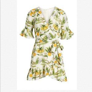🌸New Lost + Wander Limonada Citrus Wrap Dress